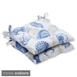 Pillow Perfect 'Sealife' Outdoor Wrought Iron Seat Cushion (Set of 2)