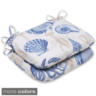 Pillow Perfect 'Sealife' Rounded Corners Outdoor Seat Cushion (Set of 2)