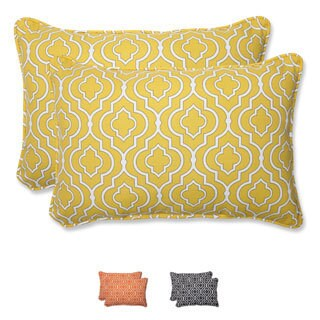 Pillow Perfect 'Starlet' Over-sized Rectangular Outdoor Throw Pillow (Set of 2)