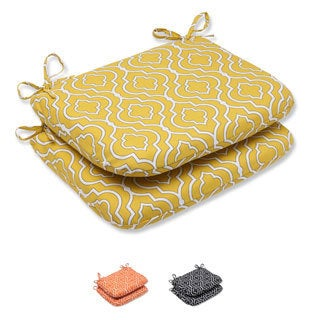 Pillow Perfect 'Starlet' Rounded Corners Outdoor Seat Cushion (Set of 2)