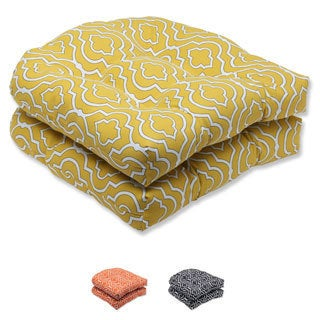 Pillow Perfect 'Starlet' Outdoor Wicker Seat Cushion (Set of 2)