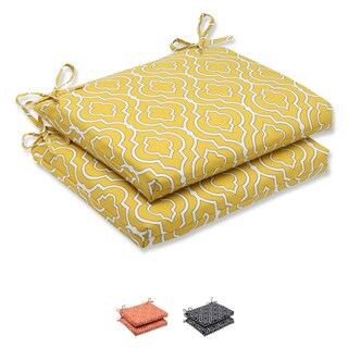 Pillow Perfect 'Starlet' Squared Corners Outdoor Seat Cushion (Set of 2)