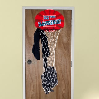 Slam Dunk Your Laundry Over the Door Basketball Hamper Net