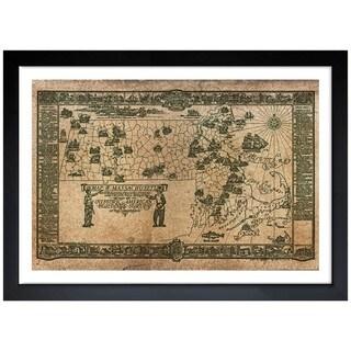 Oliver Gal 'Boston Buildings Map 1934' Framed Art