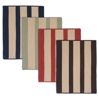 Light House Natural Stripe Reversible Outdoor Rug (8' x 10')