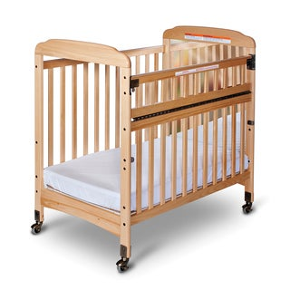 Bella Professional Child Care SafeAccess Mirror End Compact Crib in Natural