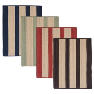 Light House Natural Stripe Reversible Outdoor Rug (5' x 7')