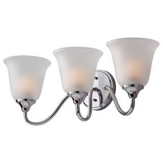 Jela 3-light Frosted Chrome Vanity Fixture