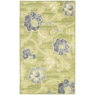 Waverly Aura of Flora Wasabi Area Rug (7'9 x 9'9)
