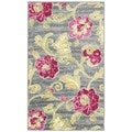 Waverly Aura of Flora Jazzberry Area Rug (7'9 x 9'9)