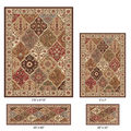Elegance 4-piece Traditional Oriental Pattern Rug Set