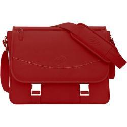 MacCase Premium Leather Large Shoulder Bag Red