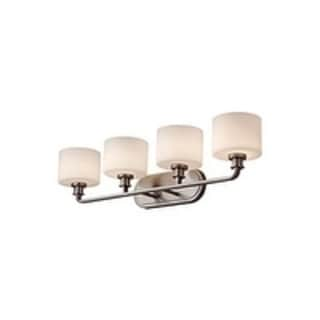 Kincaid 4-light Brushed Opal Steel Vanity Fixture