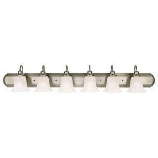 Vista White Brushed Steel 6-light Vanity Fixture