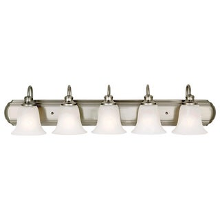 Vista 5-light Brushed Steel Vanity Fixture
