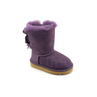 Ugg Australia Girl (Toddler) 'Bailey Bow' Regular Suede Boots