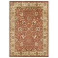 Alliyah Handmade 'Taj Mahal' Rust/ Honey Gold 100 Percent New Zealand Wool Rug (10' x 14')