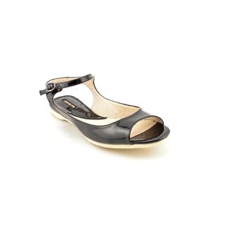 All Black Women's 'MJ' Patent Leather Sandals