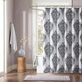 ID Sydney Black Damsk Print Shower Curtain