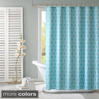 Intelligent Design Lexie Modern Geometric Shower Curtain