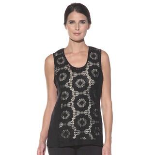 Anatomie Women's 'Lisette' Black Floral Lace Tank
