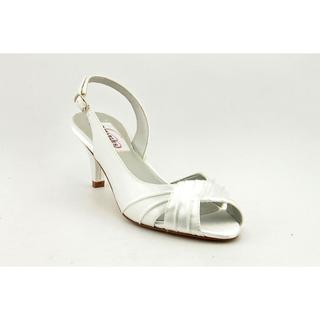 Dyeables Women's 'Nicky' Satin Sandals - Extra Wide
