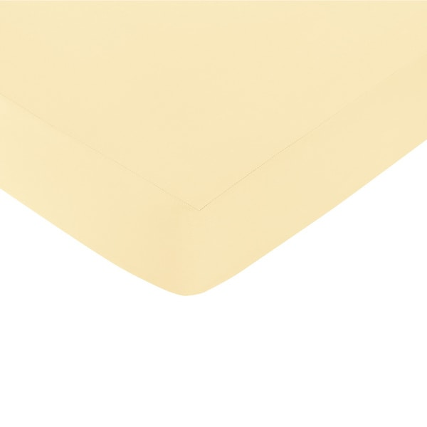 Sweet Jojo Designs Yellow Fitted Crib Sheet