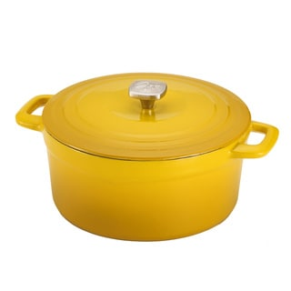 Guy Fieri 7-quart Yellow Porcelain Cast Iron Dutch Oven