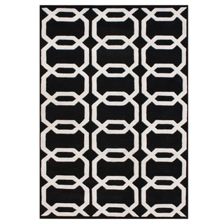 Handmade Alliyah Floridly Black New Zealand Blend Wool Rug (9' x 12')