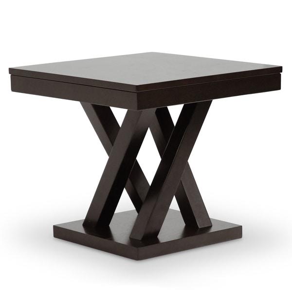 baxton studio everdon dark brown modern end table 15967547
