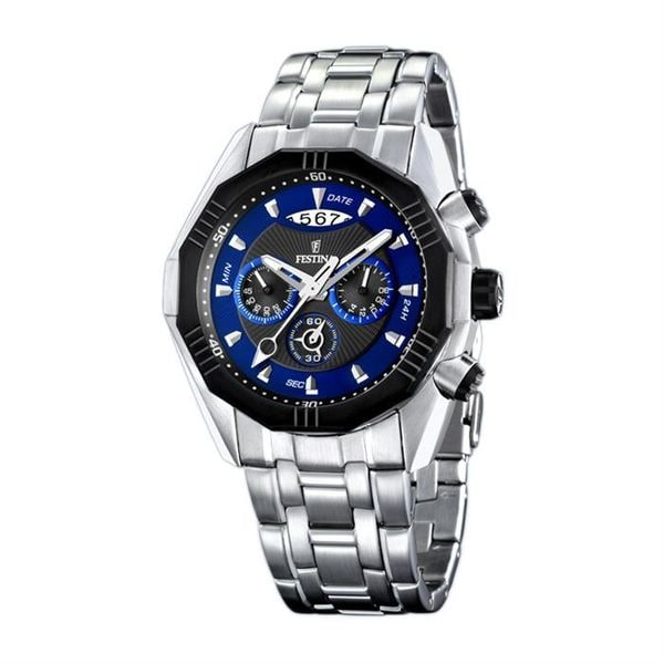Festina Men's 'Montre Homme' Stainless Steel Sport Watch