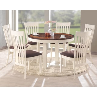 Shippen White and Brown 7 Piece Modern Dining Set