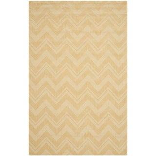 Safavieh Handmade Impressions Gold Wool Rug (7'6 x 9'6)