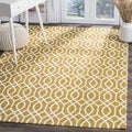 Safavieh Hand-loomed Cedar Brook Citron/ Ivory Cotton Rug (7'3 x 9'3)