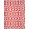 Safavieh Hand-loomed Cedar Brook Red/ Ivory Cotton Rug (7'3 x 9'3)