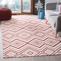 Safavieh Hand-loomed Cedar Brook Ivory/ Coral Cotton Rug (7'3 x 9'3)