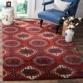 Safavieh Handmade Wyndham Red Wool Rug (5' x 8')