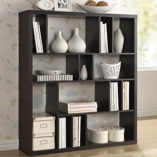 Baxton Studio Declan Dark Brown/ Espresso Modern Storage Shelf