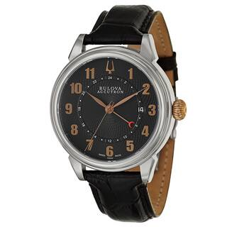 Bulova Accutron Men's 'Gemini' Stainless Steel Rose Gold-Tone Two Time Zones Watch