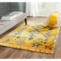 Safavieh Hand-knotted Tangier Gold Wool/ Hemp Rug (4' x 6')