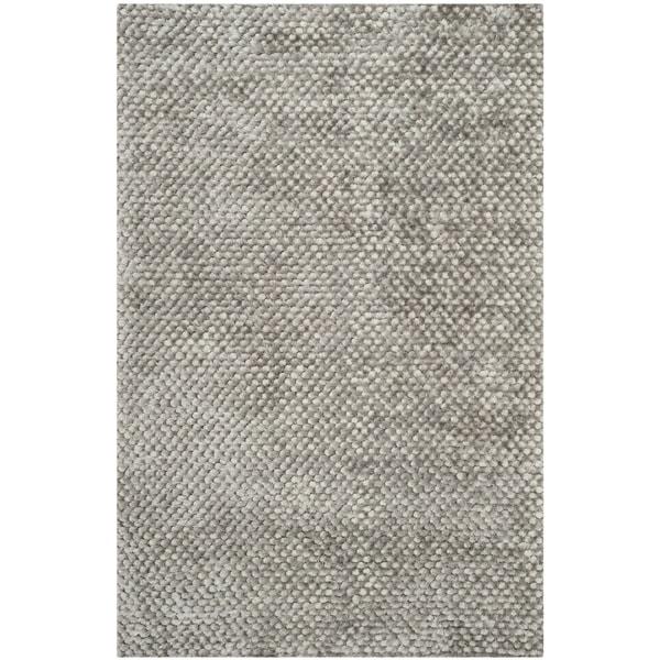 Safavieh Hand-woven Saint Tropez Silver Polyester Rug (4' x 6')