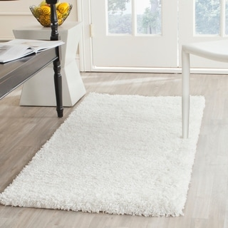 Safavieh California Cozy Solid White Shag Rug (2'3 x 5')