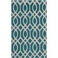 Safavieh Hand-loomed Cedar Brook Teal/ Ivory Cotton Rug (2'3 x 3'9)