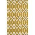 Safavieh Hand-loomed Cedar Brook Citron/ Ivory Cotton Rug (2'3 x 3'9)