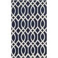 Safavieh Hand-loomed Cedar Brook Navy/ Ivory Cotton Rug (2'3 x 3'9)