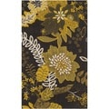Safavieh Hand-loomed Cedar Brook Brown/ Citron Cotton Rug (2'3 x 3'9)