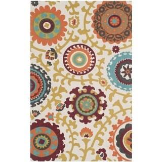 Safavieh Hand-loomed Cedar Brook Ivory/ Orange Cotton Rug (2'3 x 3'9)