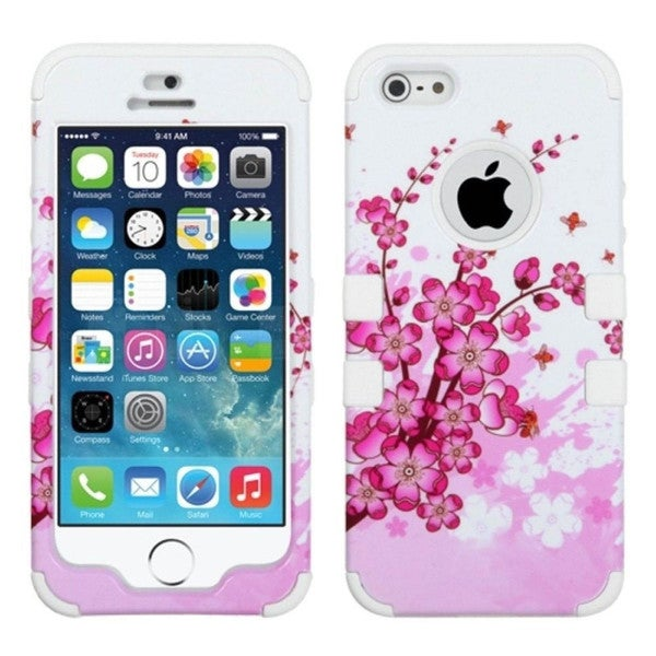 INSTNE Tuff Dual-layer Hybrid Rubberized Hard PC/ Silicone Phone Case for Apple iPhone 5/ 5S