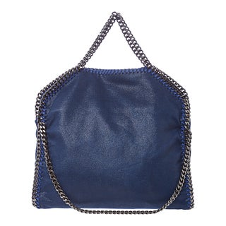 Stella McCartney 'Falabella Shaggy Deer' Small Royal Blue Fold-over Tote