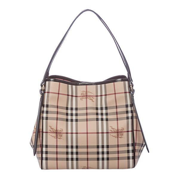 Burberry 'Canterbury' Small Beige/ Black Haymarket Tote